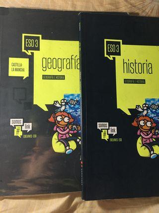 Libros de geografía e historia 3 eso .