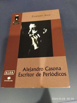 LIBRO ALEJANDRO CASONA. ESCRITOR DE PERIÓDICOS