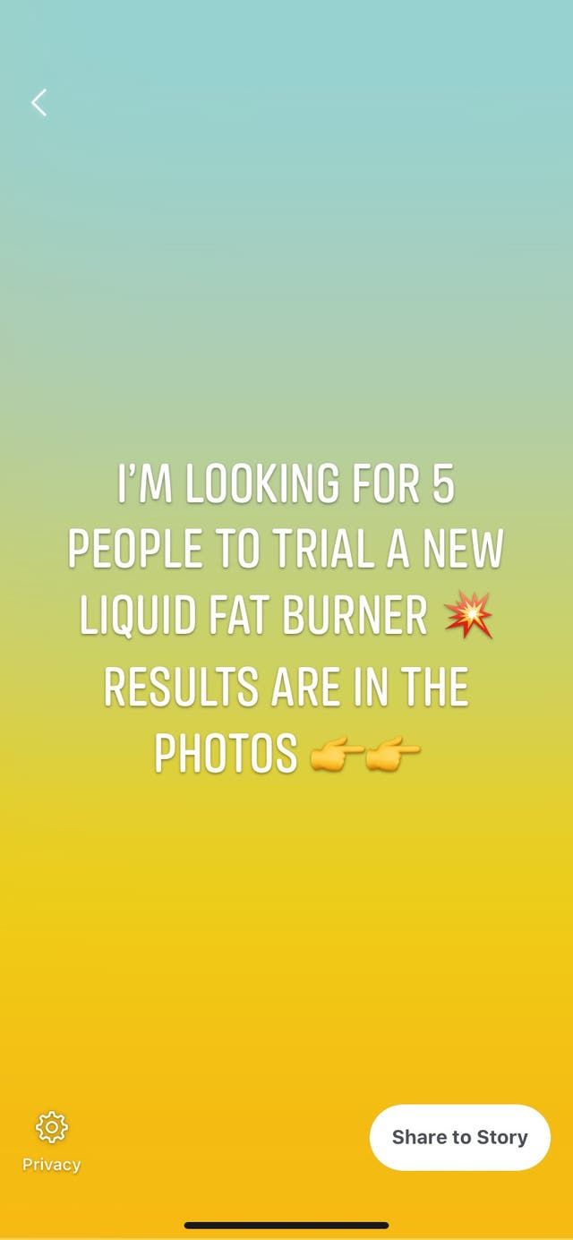 Liquid fat burner