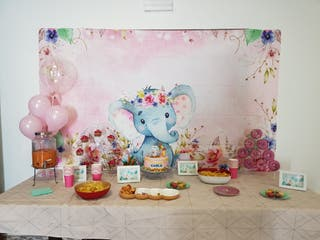 Fondo elefante bebe para cumpleaños