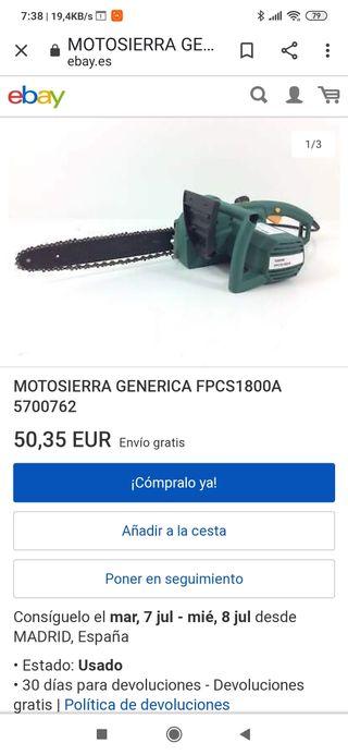 MOTOSIERRA 1800W