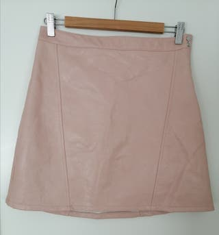 Falda efecto piel Zara