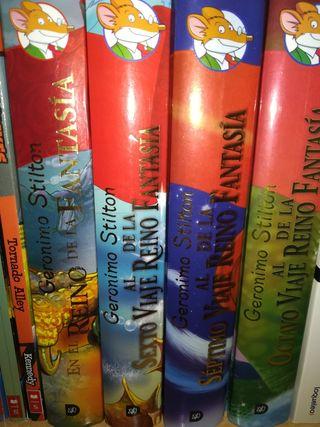 Colección de libros de Geronimo Stilton.