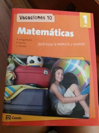 Vacaciones 10. Matemáticas. Primero ESO.