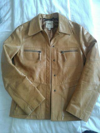 MANGO chaqueta piel estilo vintage talla M