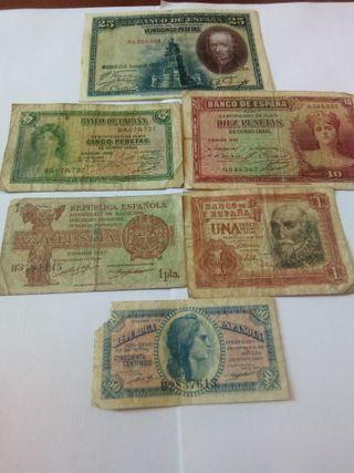 billetes antiguos colección