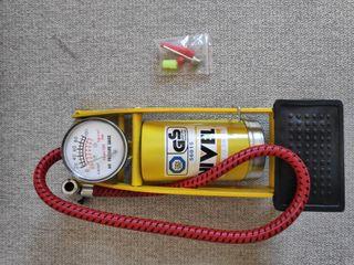 bomba de inflar con manómetro