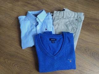 Lote Camisa y Pantalón Tommy 2,jersey Gant 2