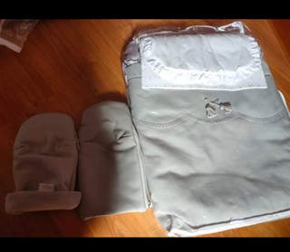 saco d capazo gris poli piel manoplas