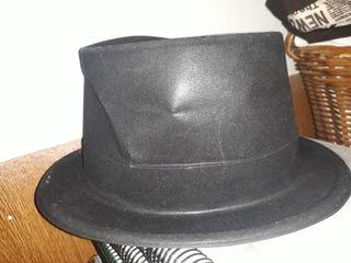 Sombrero Chistera Negra Carnaval