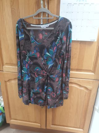 FAT FACE Size 16 Stretchy Long Sleeved Top