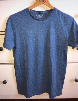 Camiseta básica de hombre azul marino