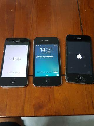 3 telefonos iphone 4