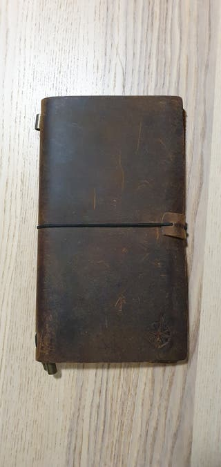 cuaderno A5 de viaje, de piel.libretas de recambio