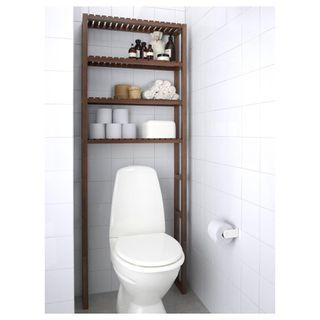 Baño armario alto, armario pared y estanteria