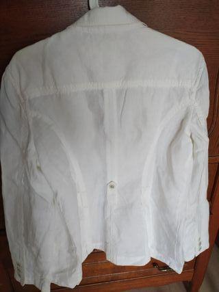 veste blanche en lin Esprit tbe taille 44