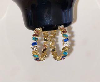 Multi coloured crystal earrings