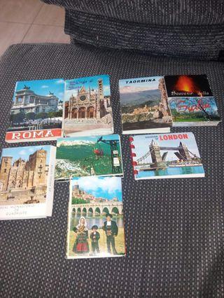 lote de 8 librillos de postales
