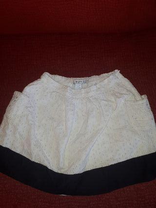 falda blanca y negra para niña de 6 y 7 años