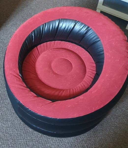 Inflatable chair for garden, gaming, camping...