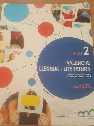 LIBRO DE TEXTO 2 °ESO VALENCIÀ : LLENGUA I LITERA