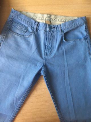 Pantalón largo azul hombre