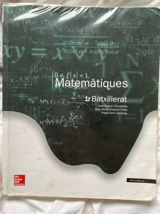 Libro Matemáticas 1ro Bachillerato Mc Graw Hill