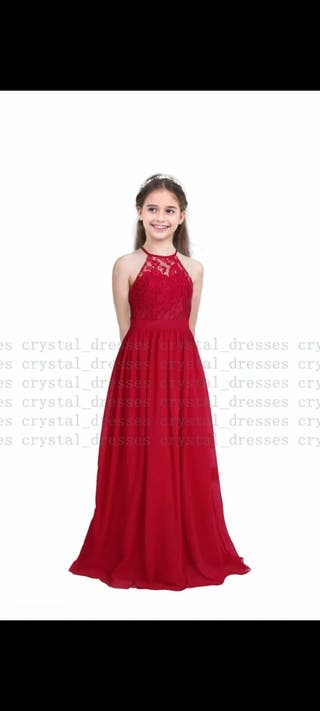 flower girl red dress
