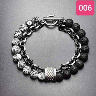 Natural Tigers Eye Obsidians Mens Bracelet.