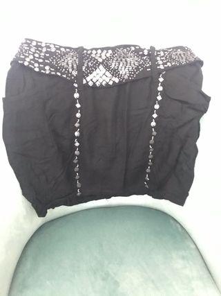Falda con lentejuelas