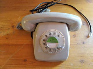 Teléfono heraldo gris original