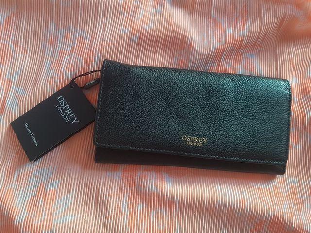 Osprey purse/ wallet-black leather