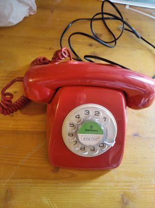 Teléfono heraldo rojo original