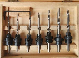 Kit 7 brocas para madera - acabado invisible