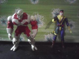 lote 2 figuras marvel toy biz forja y caliban