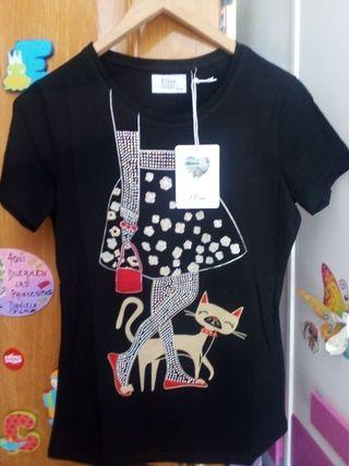 Camiseta mujer con broche NUEVA Talla S-M