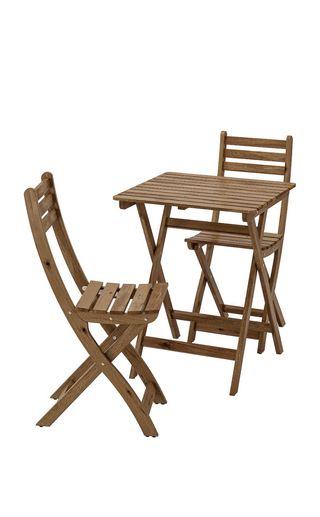 mesa con sillas terraza ikea