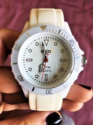 Reloj Ohla! Blanco Crema Unisex Analógico