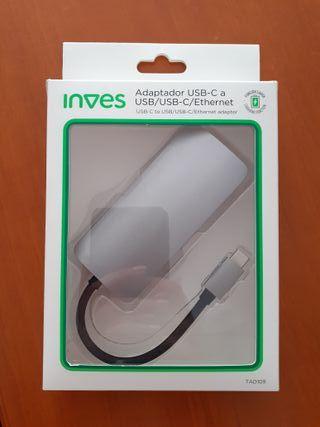 Adaptador USB-C a USB/USB-C/Puerto de red