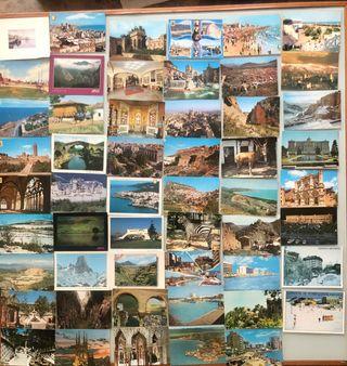 Colección 53 postales color ciudades España