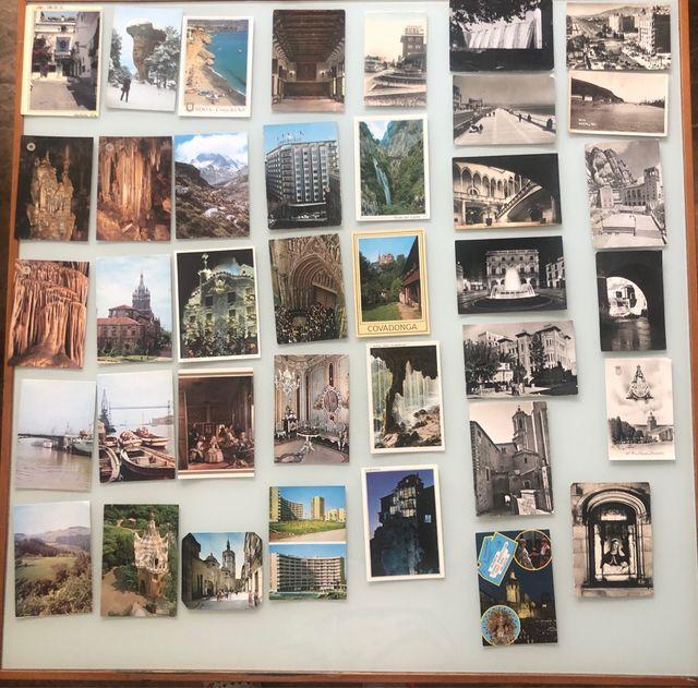 Colección 35 postales y 3 fotos antiguas