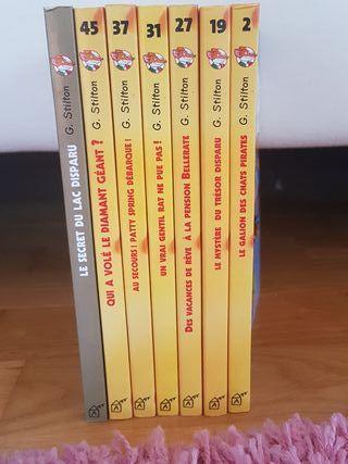 Pack 7 libros Geronimo Stilton en francés