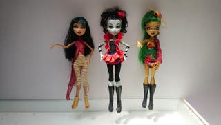 Lote muñecas Monster High