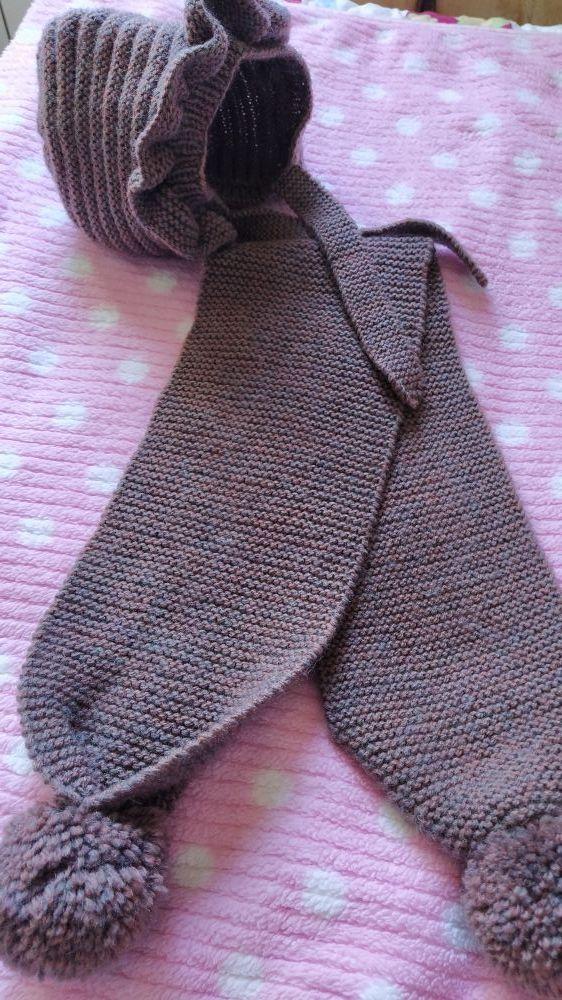Conjunto artesano bufanda y capota