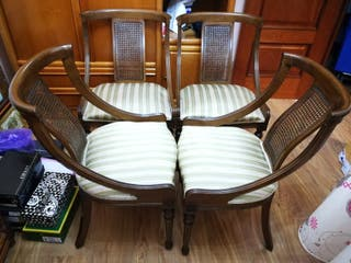 oportunidad!! lote de 4 sillas de madera
