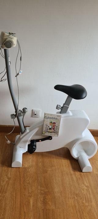 Bicicleta cyberbike wii + juego