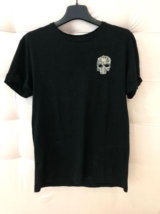 Camiseta hombre negra calavera