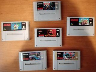 Lote Super Nintendo Nes Snes juegos cartucho