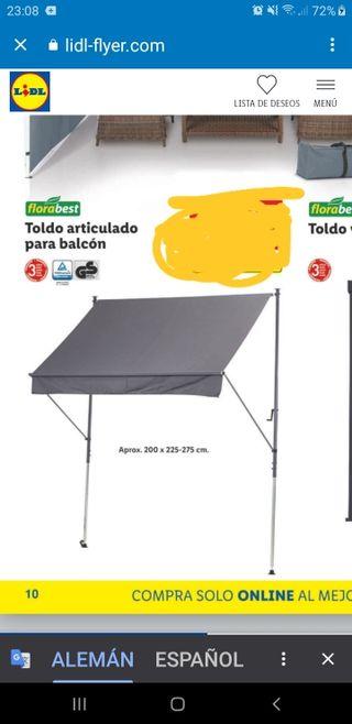 TOLDO BALCON O PORCHE