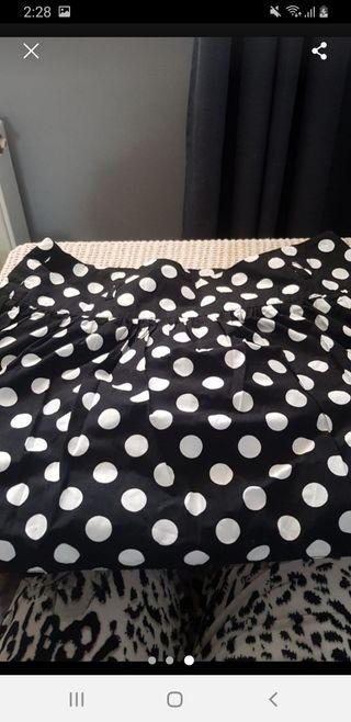 age 14-15 tammy polka dot skirt
